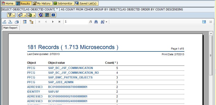 Screenshot - Crystal Reports in SQL Cockpit